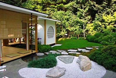 Гравий в саду как декоративный элемент